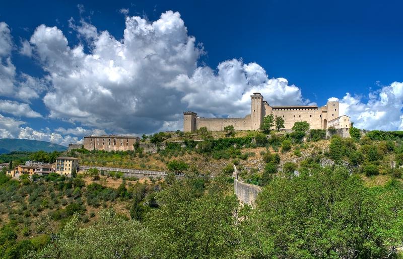 Spoleto-AlbornozFortress-view